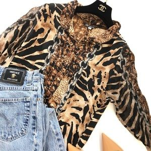Vintage Shirt in chains, animal print